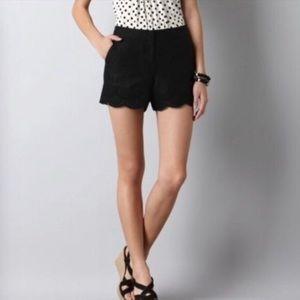 NWOT [LOFT] Black Scallop Jacquard Riviera Shorts